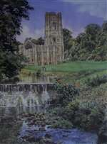 Fountains Abbey Painting by Jeremy Storr